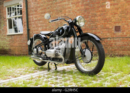 Vintage BMW R5 Motorcycle at Bicester Heritage Centre. Oxfordshire, England - Stock Photo