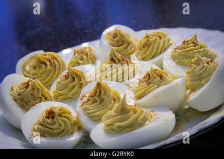 Deviled Eggs, Stuffed Eggs - Stock Photo