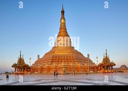 Uppatasanti Pagoda, Naypyidaw (Naypyidaw), Myanmar (Burma) - Stock Photo