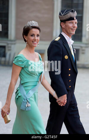 Prince Joachim of Denmark and Princess Marie of Denmark arrive for ...