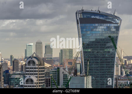 The City Of London from The Golden Gallery At St Paul's Cathedral ,Climbing to The Top Of St Paul's give a wonderful - Stock Photo