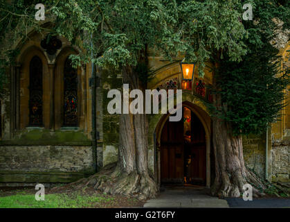 Doorway of St. Edward's Church, Stow-on the- Wold, Gloucestershire. - Stock Photo