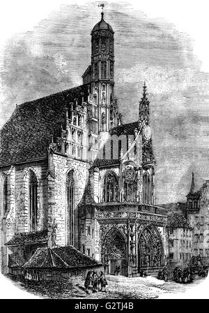 Nuremburg Cathedral, originally Protestant, but  taken over by Roman Catholics when Nuremberg fell to Bavaria in - Stock Photo