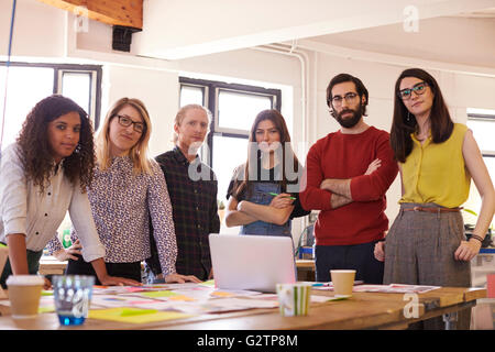 Portrait Of Design Team In Modern Office - Stock Photo