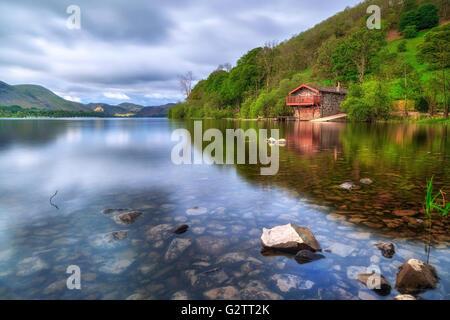 Pooley Bridge, Ullswater, Lake District, Cumbria, England, UK - Stock Photo