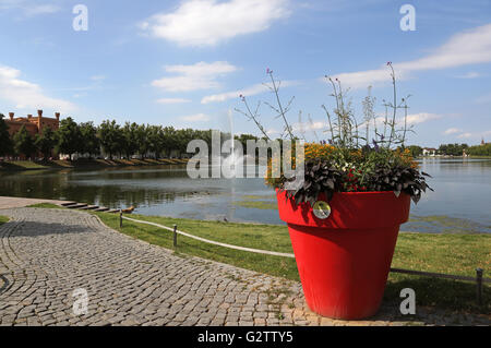 24.07.2015, Schwerin , Mecklenburg-Western Pomerania, Germany - Overlooking the Pfaffenteich. 00S150724D812CAROEX.JPG - Stock Photo