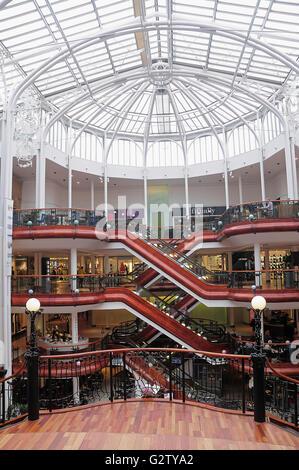 Scotland, Glasgow, City Centre, interior of Princes Square. - Stock Photo