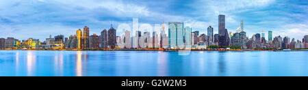 Midtown Manhattan panorama as viewed from Gantry Plaza State Park across East River - Stock Photo