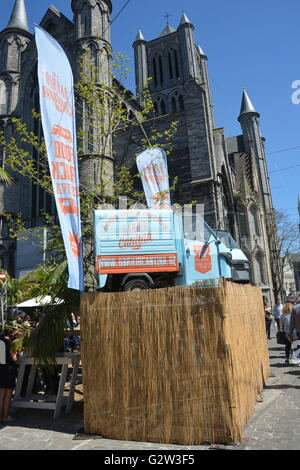 Publicity Van at the Ghent Food & Drink Fayre - Stock Photo