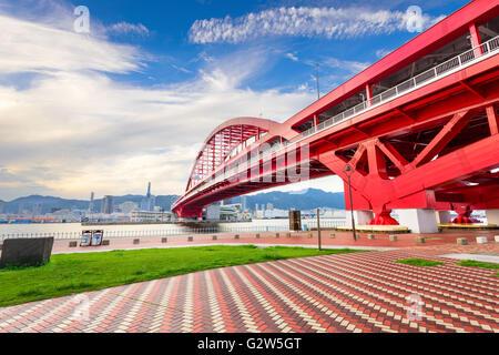 Port Island, Kobe, Japan skyline. - Stock Photo