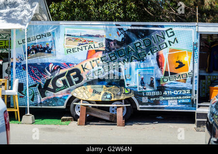 KGB kite boarding equipment at the Marina In Emeryville California - Stock Photo
