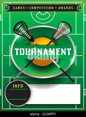 A lacrosse tournament flyer template Stock Photo: 105007025 - Alamy
