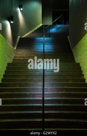 City stairs at night, Sydney, Australia - Stock Photo