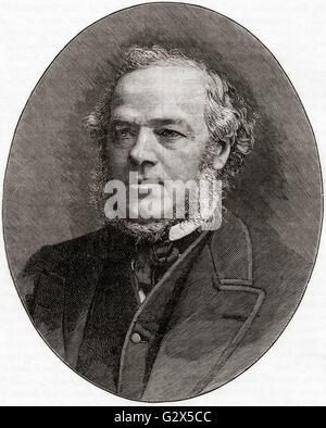 Henry Austin Bruce, 1st Baron Aberdare, 1815 – 1895.  British Liberal Party politician. - Stock Photo
