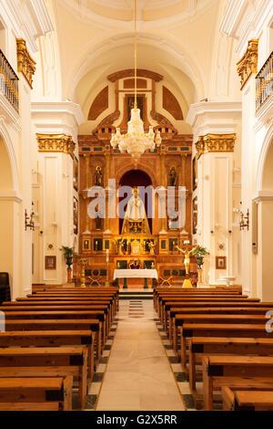 Interior, Church of Nuestra Señora de Los Remedios, Estepona Andalusia Spain - Stock Photo