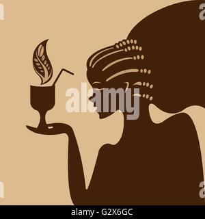 Girl and coffee - Stock Photo