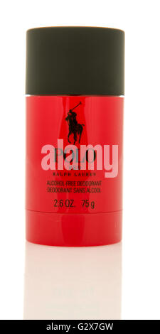 Winneconne, WI - 2 June 2016:  Stick of Polo by Ralph Lauren deodorant on an isolated background - Stock Photo
