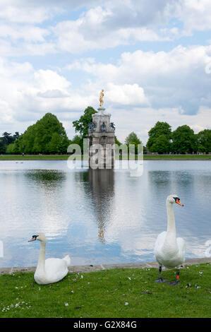 Diana Fountain in Bushy Park, Borough of Richmond upon Thames, Greater London, England, United Kingdom - Stock Photo