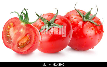 tomatoes isolated on the white background. - Stock Photo