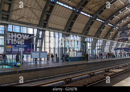Alexanderplatz Staion Concourse , Berlin , Germany - Stock Photo