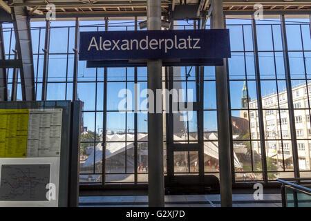 Alexanderplatz Hauptbahnhof , Berlin ,Germany - Stock Photo