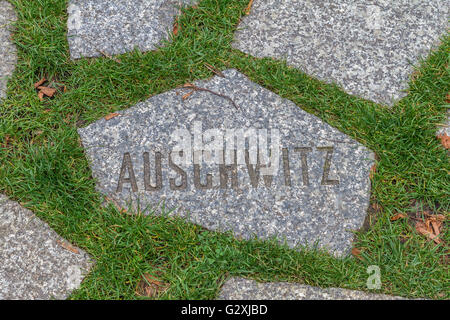 Sinti And Roma Memorial , Berlin , Germany - Stock Photo