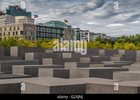 Jewish Holocaust Memorial , Berlin , Germany - Stock Photo