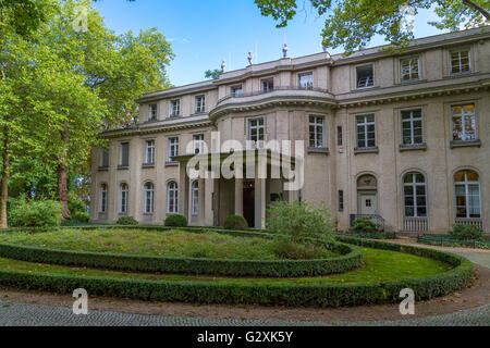 Wannsee Villa , location of the Wannsee Conference 20th January , 1942 , Wannsee , Berlin , Germany - Stock Photo