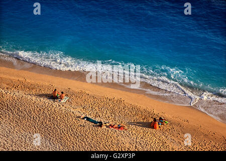 Kaputas beach, between Kalkan and Kas towns, Lycia, Antalya province, Lycia, Turkey. - Stock Photo