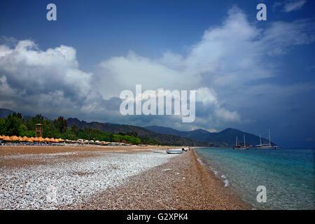 Cirali beach, on the 'Lycian Way', Lycia, Antalya province, Turkey. - Stock Photo