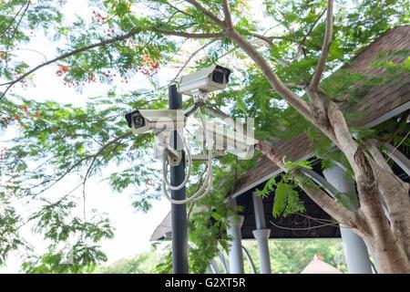 CCTV camera or surveillance operating. CCTV, camera,cctv - Stock Photo