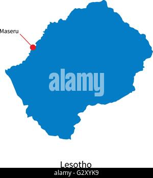 City of maseru capital of lesotho stock photo royalty free image detailed vector map of lesotho and capital city maseru stock photo sciox Choice Image