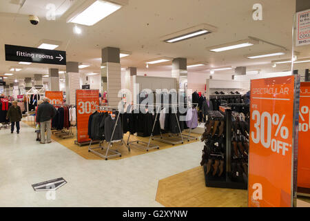 Inside   interior of a BHS   British Home Stores UK store   shop   Lincoln. Inside   interior of a BHS   British Home Stores UK store   shop