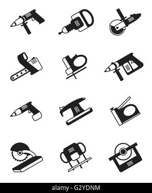 Power tools for construction - vector illustration - Stock Photo