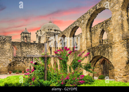Mission San Jose in San Antonio, Texas, USA. - Stock Photo