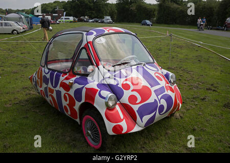 Bubblecar on display at the Classic Car show 2016 in Norman Park Bromley - Stock Photo
