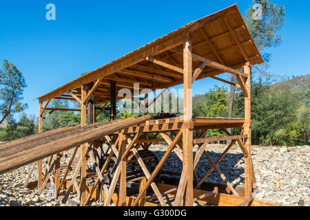 California, Coloma, Marshall Gold Discovery State Historic Park, Sutter's Mill replica - Stock Photo