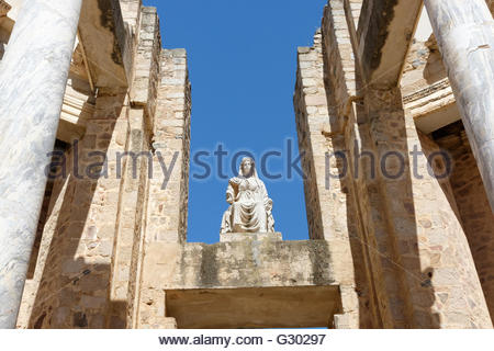 Roman theater in Merida. There is a marvelous Romanic theater. It build when romanos lived in Spain. - Stock Photo