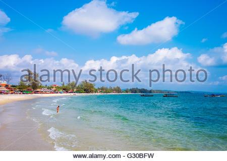 Serendipity Beach, Sihanoukville, Preah Sihanouk Province, Cambodia, Indochina, Southeast Asia, Asia - Stock Photo