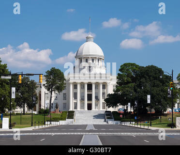State Capitol Building in Montgomery, Alabama, United States of America, North America - Stock Photo