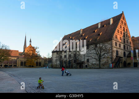 Maulbronn Monastery : monastry church and Fruchtkasten, Germany, Baden-Württemberg, Kraichgau-Stromberg, Maulbronn - Stock Photo