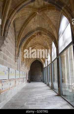Cloister at Cathedral Church; Avila; Spain - Stock Photo