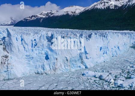 View of the galcier Perito Moreno in Patagonia / Argentina - Stock Photo