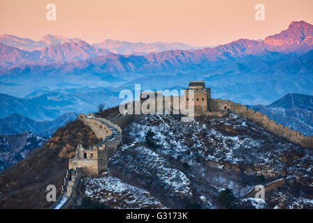 China, Hebei province, Great Wall of China, Jinshanling and Simatai section, Unesco World Heritage - Stock Photo