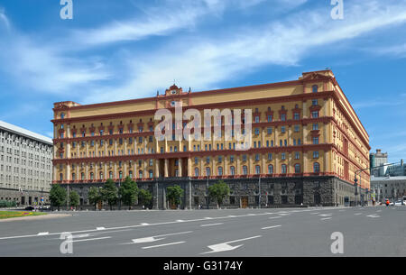 Moscow, The main building of the Federal Security Service of Russia, Bolshaya Lubyanka street, home 1 - Stock Photo