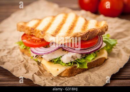 Sandwich Grilled Chicken Sandwich Stock Photo