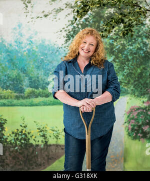 Charlie Dimmock Bbc Television Presenter Stock Photo