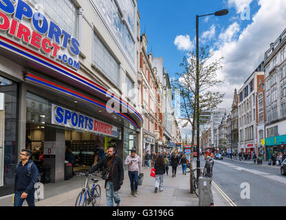 Shops on Oxford Street in the West End, London, England, UK - Stock Photo