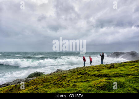Kiama Coastline during a severe storm, Illawarra coast, New South Wales, Australia - Stock Photo