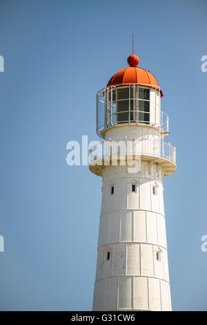 Top of Tahkuna lighthouse against blue sky, Hiiumaa island, Estonia - Stock Photo